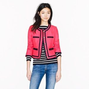 J. Crew lady double serge wool jacket pink blue 2